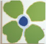 flower icon green #3, acrylic, oil on canvas, 72.7×72.7cm, 2004 / photo by Mineo SAKATA
