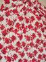Muster 44  rote Rosen mit cremfarbigen Hintergrund