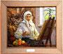 «Екатерина Белокур в мастерской», 1975 - картинная галерея, г. Яготин, Украина