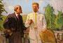 «Ленин с Горьким в Горках», акварель, 1969 - государственный исторический музей, г. Яготин, Украина