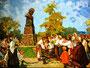 «Возложение цветов к памятнику Т.Г. Шевченко», 1960
