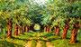 «Каштановая аллея, где гулял Тарас Шевченко», 1961 - картина находится в г. Киеве в Национальной Филармонии Украины