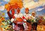 «Праздник урожая», 1970, эскиз - государственный исторический музей, г. Яготин, Украина