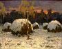 «Стога под снегом», 1961 - копия картины находится в частной коллекции г. Цюрих, Швейцария