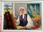 «Вдохновение», 1977 - мемориальный музей-усадьба народной художницы Е. Белокур, с. Богдановка, Украина