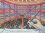 Die 3-Groschen Oper  Originalgrösse BxH = 40x30cm  Acryl Mal- und Spritztechnik auf Papier