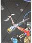 Raumschiff  Originalgrösse BxH = 70x100cm  Collage