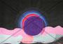 Leermond-Sonnenfinsternis  Originalgrösse BxH = 69.5x50cm  Acryl auf Papier