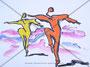 Der Tanz  Originalgrösse BxH = 42x29.7cm  Neocolor und Tusche auf Papier