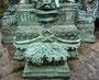 Brunnen Putte - Buben Brunnen - grün - Schloßbrunnen