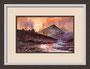 Gewitterstimmung, Landschaft in England, Bild nach einer Vorlage von Terry Harrison, Originalgröße gerahmt ca 20x30cm