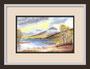 Blick auf einen See, Bild nach einer Vorlage von Terry Harrison, Originalgröße gerahmt ca 30x40cm