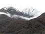 ...wo auch die Wolken in den Bergen hängen.
