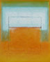 Orange mit hellem Feld (40x50 cm)