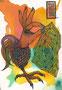 aha(h)nd |105 x 148 mm| watercolor pigmentliner |