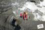 gehen im steilem gletscher