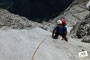 Peter kletternd im Salzburgerweg
