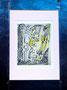 Série 7-G  74x95  encre-acrylique-pollen de Lys sur papier cadre métal 2012