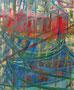 """61x50   La plage des barques"""" acrylique sur châssis entoilé  2010/2011"""