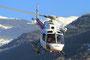 Eine AS 350 der Air Glaciers ausgestattet mit einer Seilwinde für die Bergrettung.