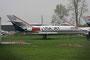 Hier eine der rund 50 mehr ode minder komplett abgestellte Falcon 20 der USA JET.