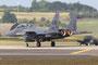 Die noch stärkren Triebwerke der F-15E bringen mit Nachbrennern die Luft sprichwörtlich zum beben.