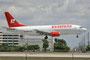 Estafeta mit einer Boeing 737-300 aus Mexico.