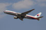 Boeing 777-200 der Malaysian Airlines aus Kuala Lumpur