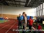 Die Trainer beim anfeuern ihrer Athleten. Hinten Volker Umlauft, Trainer des Polizei SV Berlin; Vorn Manja Berger, Trainerin beim SC Potsdam.