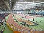 Die Leichtathletikhalle in Leverkusen