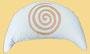 """Designer Meditationskissen Yogakissen Halbmond Basic """"Spirale"""" naturweiss"""