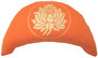 "Designer Meditationskissen Yogakissen Halbmond Basic ""Lotus"" orange"