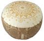 """Designer Meditationskissen Gr.M - White Cocoa """"Ur-Mandala"""""""
