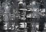 """""""砂嵐 Static Noise-16"""" 高森幸雄 2013 acrylic on paper 364×257mm 画用紙にアクリル"""