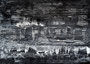 """""""砂嵐 Static Noise-14"""" 高森幸雄 2013 acrylic on paper 364×257mm 画用紙にアクリル"""