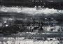 """""""砂嵐 Static Noise-10"""" 高森幸雄 2013 acrylic on paper 364×257mm 画用紙にアクリル"""