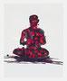 """""""瞑想"""" 高森幸雄 (スケッチブックから)2011 acrylic ink and Japanese ink on paper クロッキー紙に墨汁、アクリルインク"""