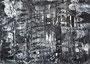 """""""砂嵐 Static Noise-11"""" 高森幸雄 2013 acrylic on paper 364×257mm 画用紙にアクリル"""