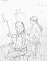 高森幸雄 2010(スケッチブックから) pencil on paper  画用紙に鉛筆