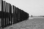Poteaux à huitres - Plage d'Armanville à marée basse - Normandie