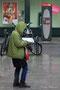 Touriste sous la pluie, Nancy