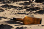 Une Bouteille à la mer - Plage d'Armanville, Pirou (50)