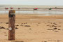 Plage de Pirou-Plage à marée basse - Normandie