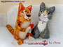 Кот Пантелеймон и портретная игрушка кошка Милка