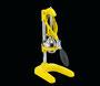 cilio Profi-Saftpresse gelb, schweres Metall - daher besonders standfest, Trichter und Presskegel aus Edelstahl, Saugfüsse, 18x22x43 cm
