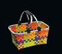 cilio Shopping-Basket Fashion Gr. M (38 x 22 x 19 cm, Volumen ca. 15 Liter, Tragkraft bis ca. 6 kg), in Handarbeit aus robustem Kunststoff geflochten
