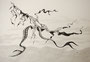 Flugobjekt, 30x40, Buntstift auf Papier
