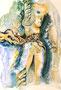 Torso, A4, Aquarell auf Papier