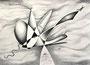 Surreale Fantasie, 30x40, Buntstift auf Papier