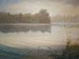 Morgens am See, 30x40, Öl auf Malplatte